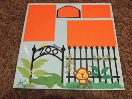scrapbook inserts zoo monkey scrapbook page premade scrapbook