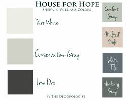creating the paint color palette for the house for hope designer