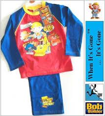 boys kids bob builder toddler pyjama pants briefs vest