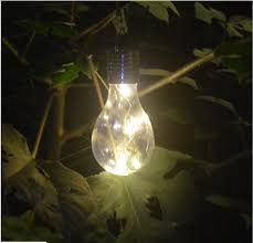 solar powered outdoor light bulbs hanging ornamental light bulbs solar powered outdoor garden patio