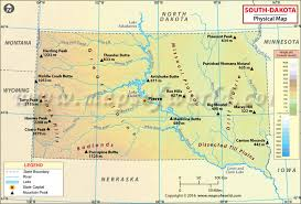 South Dakota rivers images Physical map of south dakota south dakota physical map jpg