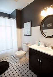 small bathroom ideas black and white vintage style bathroom with black white tile claw foot tub