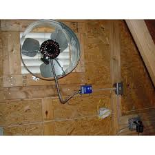 gable attic fan installation difference between whole house fans and attic fans