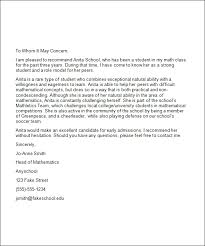 College Letter Of Recommendation From Best Photos Of College Reference Letter Exles College