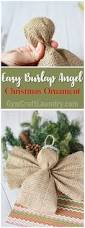 easy burlap angel ornament homemade christmas crafts burlap and
