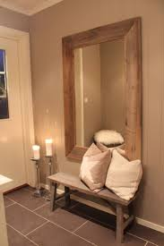 Wood Mirror Frame Diy Wood Walls Foyers Frame Mirrors And Bench Cushions