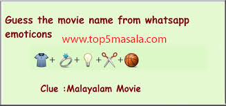 guess the malayalam movie name t shirt ring bulb scissor