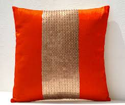 Sofa Pillows Covers by Decorative Throw Pillows Cover Orange Gold Pillow Color