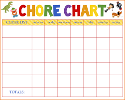 chore list template free chore chart template authorization letter pdf