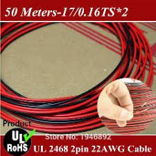 50m 16 4 ft 22awg copper wire flexible cable stranded of10 colors