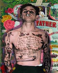 saatchi the tattooed with the lord s prayer on his chest