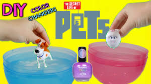 d i y the secret life of pets color change mood nail polish easy