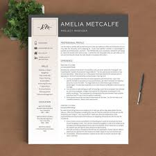 creative resume template modern cv word cover letter indesig saneme