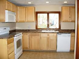 hickory wood unfinished madison door small kitchen remodel ideas