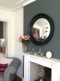 pictures of fireplace mantels wood decorative convex mirror black