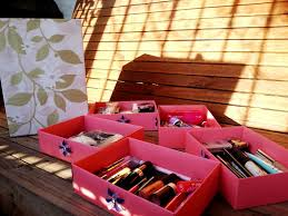 diy makeup organizer box design