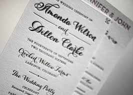 program paper wording and etiquette ideas for wedding programs from figura