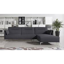 Modern Gray Leather Sofa by Divani Casa Rixton Modern Grey Fabric Sofa Bed Sectional