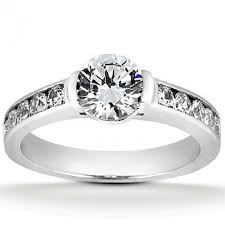 channel set engagement rings semi bezel engagement ring with channel set accent