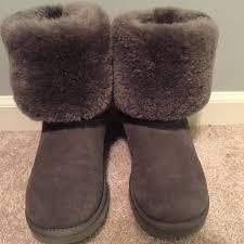 ugg s mammoth boots gray rolled uggs these are gray rolled uggs great