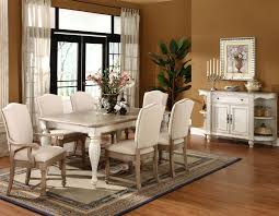 two tone walls with chair rail inspiring two tone dining room