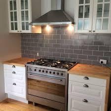 Oven Backsplash Kitchen With Subway Tile Backsplash And Freestanding Oven A