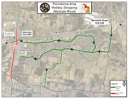 Route 40 Map by City Of Mt Juliet Gives Alternate Routes To Access Providence