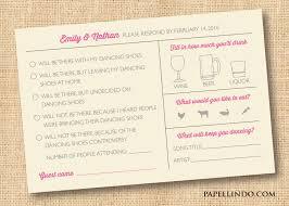 Wedding Invitation Reply Card Funny Wedding Invitation Rsvp Wording Yaseen For