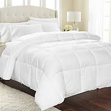 Duvet And Comforter Amazon Com Equinox Comforter 350 Gsm White Alternative Goose
