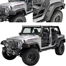 jeep wrangler front amazon com eag pocket rivet style front rear fender flares for 07