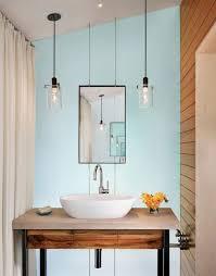 Ceramic Pendant Lights by Bathroom Using Hanging Glass Pendants Over Vanity With Vessel