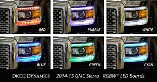 led lights for 2014 gmc sierra 2014 2015 gmc sierra 1500 2016 2018 2500 3500 multicolor drl led