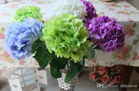 artificial flowers silk hydrangea flower decorateive flower real touch