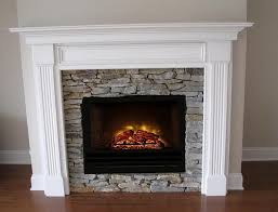 Electric Fireplace White White Stone Electric Fireplace Home Design Ideas