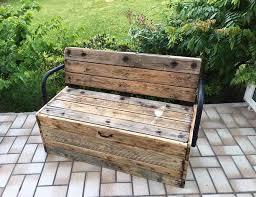 faire canapé soi même diy bricolage canapé jardin banc palette coffre bois récupération