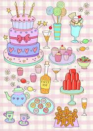 sophie foster illustration sweet treats birthday card