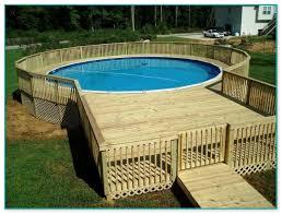 wooden pool deck kits