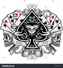 gothic coat arms skull ace spades stock vector 431242150 gothic coat of arms with skull and ace of spades grunge vintage design t