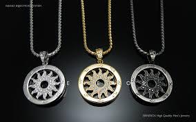 gold silver pendant necklace images Tondo sun flower pendant chain necklaces 18k gold silver plated jpg