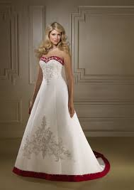 two color wedding dress item colorwd021 wedding dress with color trim
