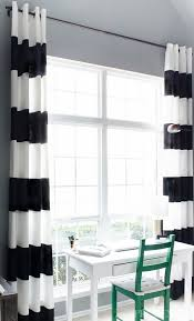 Blue And White Striped Drapes Diy Black U0026 White Striped Curtains