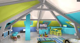 chambre gris vert lit mezzanine ado avec bureau et rangement 14 chambre gar231ons