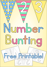number bunting kids craft free printable mama geek