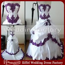 purple and white wedding purple and white wedding dresses strapless real sle lace
