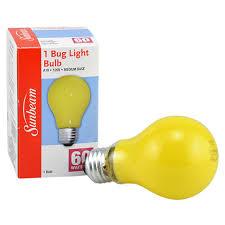 bulk sunbeam 60 watt anti insect yellow light bulbs at dollartree com