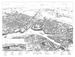 Map Of Ottawa Birds Eye View U2013 City Of Ottawa U2013 1876 U2013 Ottawahh