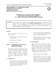analysis of portland cement filtration nitrate