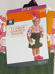 Gnome Halloween Costume Size 3t 4t Nwt Flower Garden Gnome Halloween Costume Dress Hat