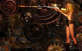 steampunk halloween background widescreen fantasy wallpapers