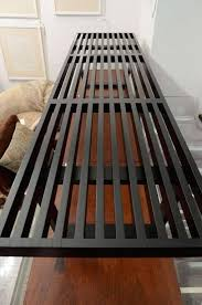 george nelson ebonized platform bench by herman miller circa